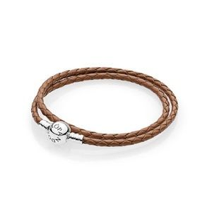 Pandora Jewelry - Pandora Brown Braided Double-Leather Bracelet